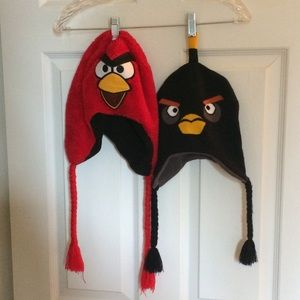 2 Angry Birds Hats Red And Black